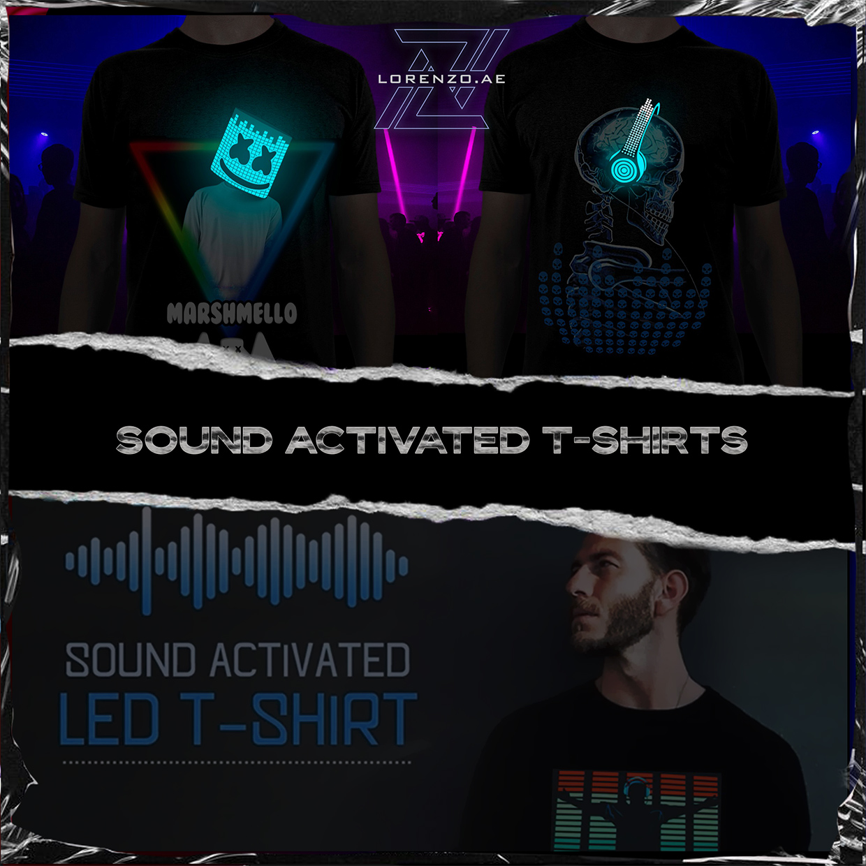 Category sound activated T-Shirts