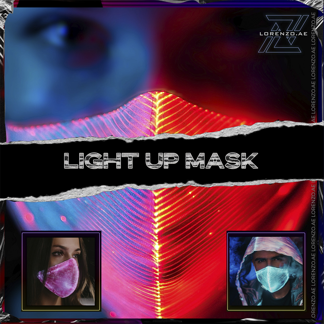 Category light up mask