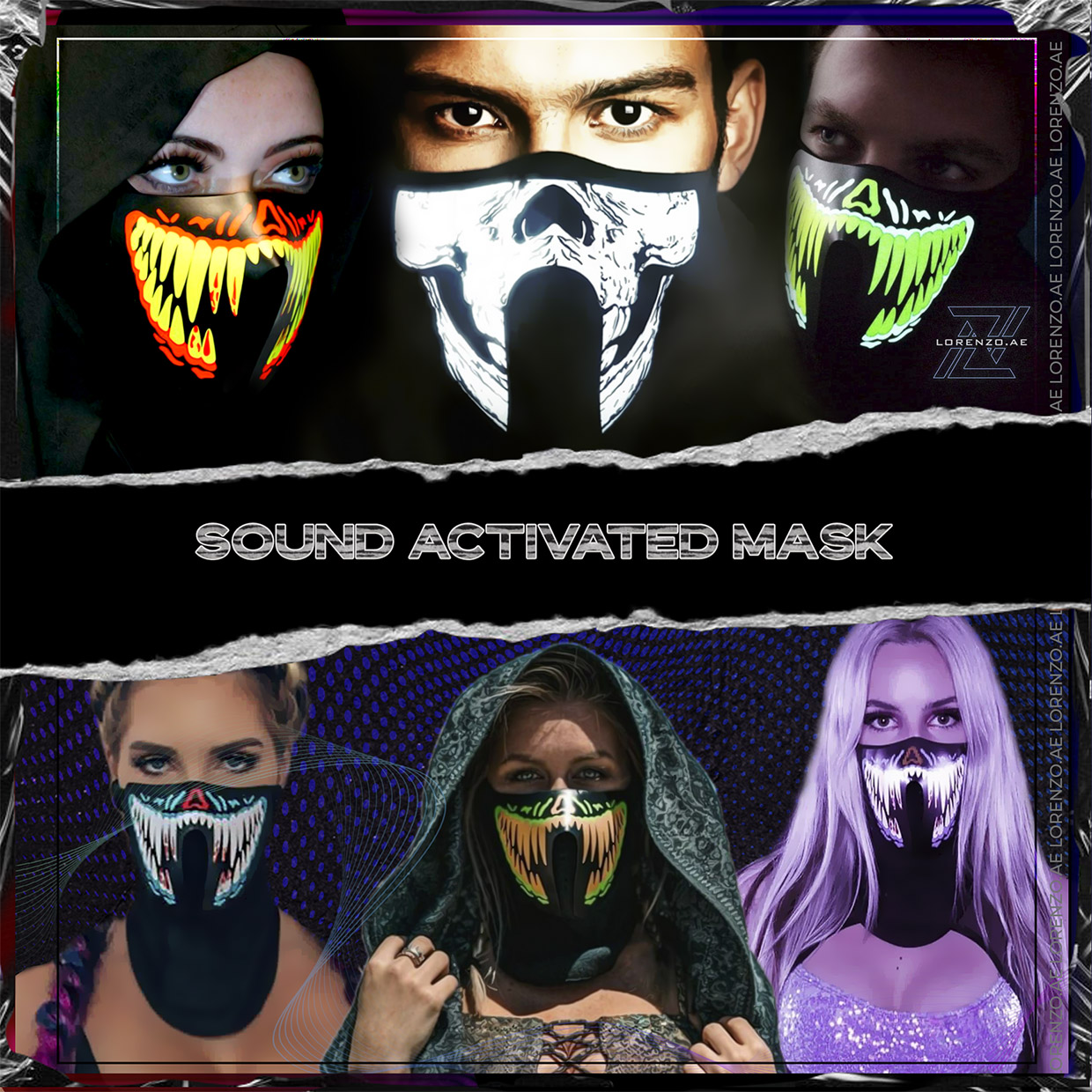 Category sound activated mask